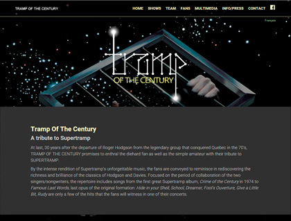 Featured Web Designs: Tramp Of The Century